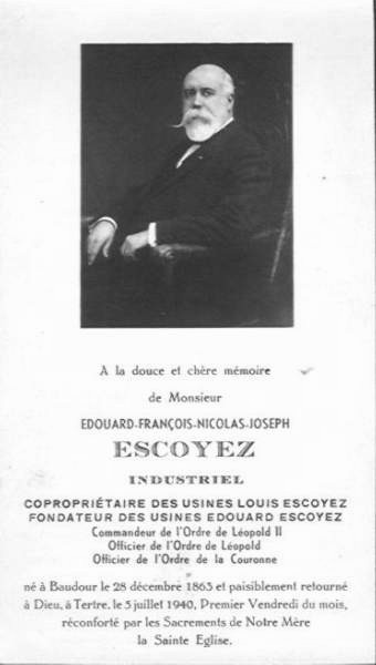 Tertre : Edouart ESCOYER